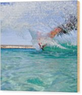 Kitesurfing Wood Print by Stelios Kleanthous
