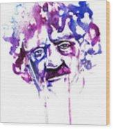 Kurt Vonnegut Wood Print by Alexandra-Emily Kokova
