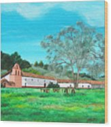 La Purisima Mission Wood Print