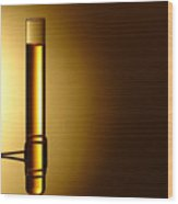 Laboratory Test Tube In Science Research Lab Wood Print