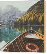 Lago Di Braies Wood Print