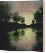 Lagoon At Sunset Wood Print