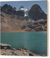 Laguna Chiar Khota In Condoriri Mountains Wood Print