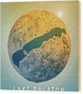 Lake Balaton 3d Little Planet 360-degree Sphere Panorama Wood Print