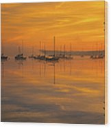 Lake Massabesic - Auburn New Hampshire Usa Wood Print