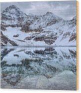 Lake Mcarthur Reflection Panoramic Wood Print