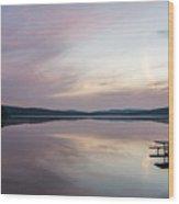 Lake Of Two Rivers Sunrise Wood Print