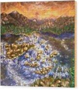 Lake Succession Wood Print