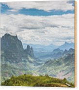 Landscape Around Kasi In North Laos Wood Print