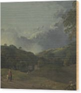 Landscape With Cottagers Wood Print