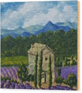 Lavender Farm Wood Print