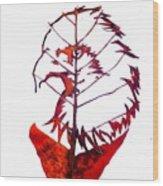 Leafcarving Wood Print