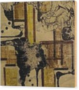 2 Level Painting Wood Print