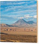 Licancabur Volcano View Wood Print