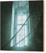 Light Through The Currituck Window - Text Wood Print