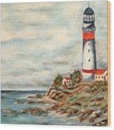 Lighthouse 2 Wood Print