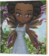 Lil Fairy Princess Wood Print