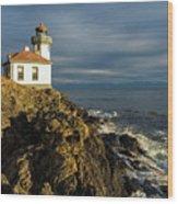 Lime Kiln Lighthouse Wood Print