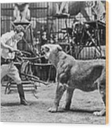 Lion Tamer, 1930s Wood Print