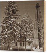 Liston Rear Range Lighthouse De Wood Print