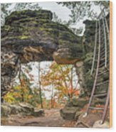 Little Pravcice Gate - Famous Natural Sandstone Arch Wood Print