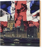 London Cityscape With Big Ben Wood Print