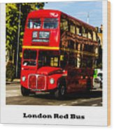 London Red Bus. Wood Print