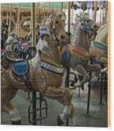 Looff Carousel Santa Cruz Boardwalk Wood Print