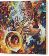 Louis Armstrong . Wood Print