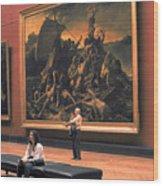 Louvre Museum In Paris Wood Print