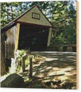 Lovejoy Covered Bridge Wood Print