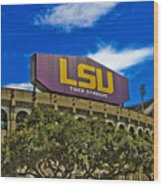 Lsu Tiger Stadium Wood Print