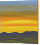 Luminescent Sunrise Wood Print