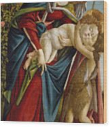 Madonna And Child And The Young St John The Baptist Wood Print