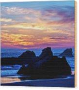 Magical Sunset - Harris Beach - Oregon Wood Print