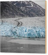 Magnificent Sawyer Glacier At The Tip Of Tracy Arm Fjord Wood Print