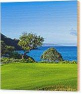Makena Golf Course In Makena Area Wood Print