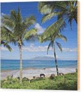 Makena, Maluaka Beach Wood Print