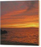 Makena Sunset Wood Print