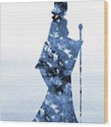 Maleficent-blue Wood Print