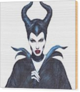 Maleficent  Once Upon A Dream Wood Print