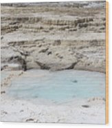 Mammoth Hot Springs Upper Terraces In Yellowstone National Park Wood Print