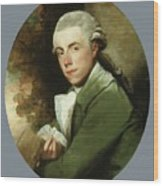 Man In A Green Coat Wood Print