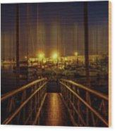 Marine At Night Wood Print