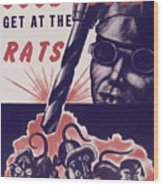 Marine Corps Recruiting Poster From World War Wood Print