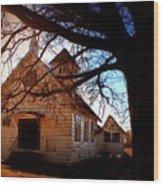 Marsh Berea Church Wood Print
