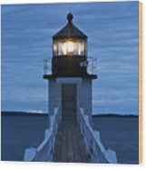 Marshall Point Light Wood Print