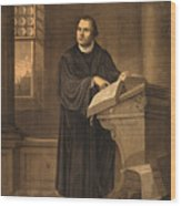 Martin Luther, German Theologian Wood Print
