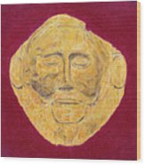 Mask Of Agamemnon Wood Print