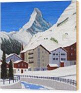Matterhorn-zermatt Wood Print